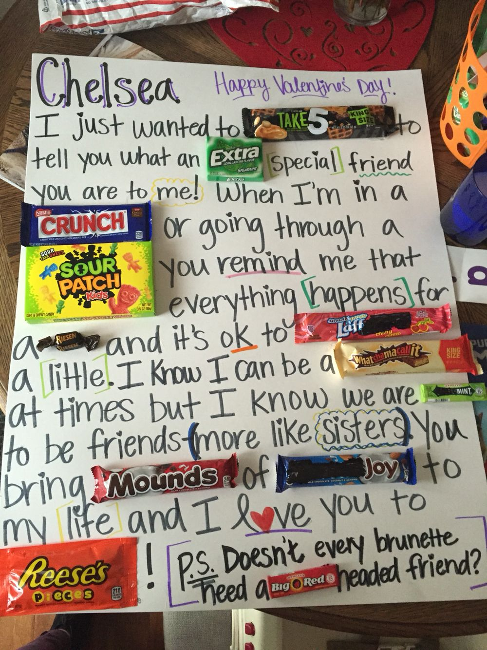 birthday candy poster for best friend ; 1fe49eacfae18280d0897f9d88d417ff