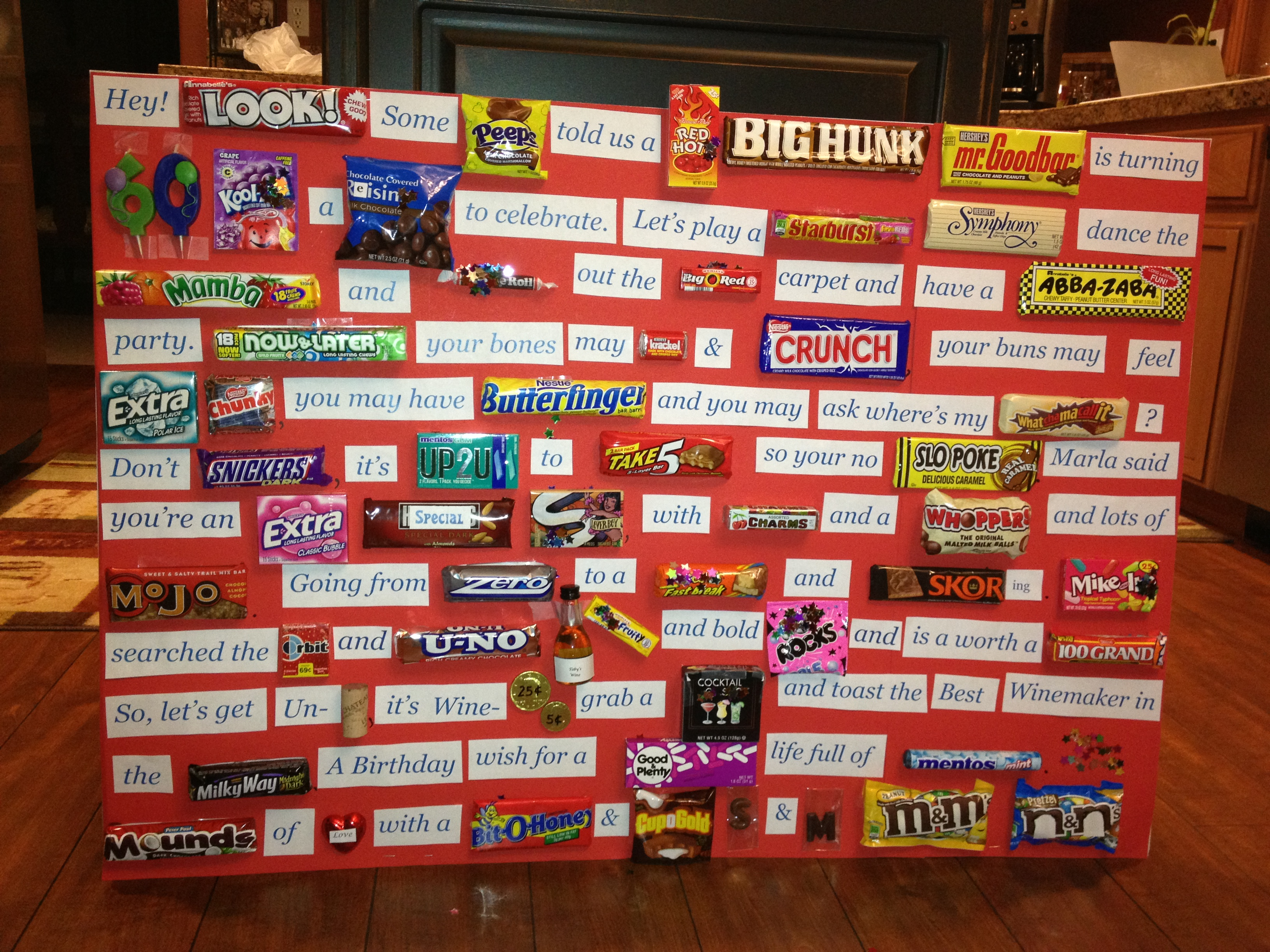 birthday candy poster for best friend ; 36a1bb3586ec6275d88971973158b9f4