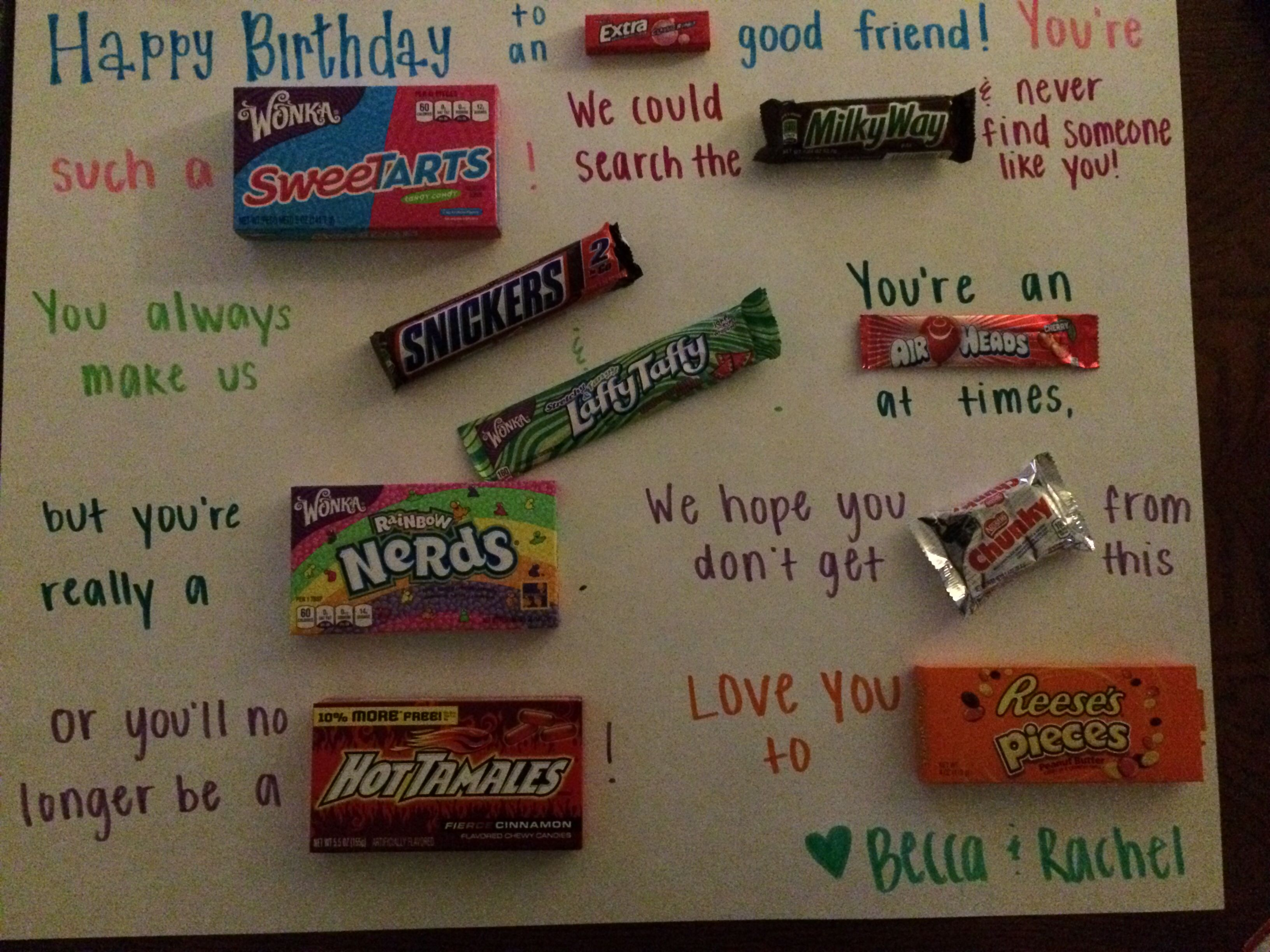 birthday candy poster for best friend ; 6a31a3027a974008bf9cb7bd1495e9cc