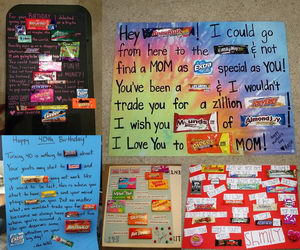 birthday candy poster for best friend ; candy-bar-sayings-collage