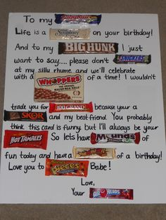 birthday candy poster for best friend ; db17a0b81e9186a7860ba507d0eb8ade