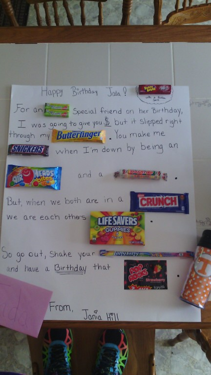 birthday candy poster for best friend ; fa4b8c635a386e159b6718c15d6f7a5a