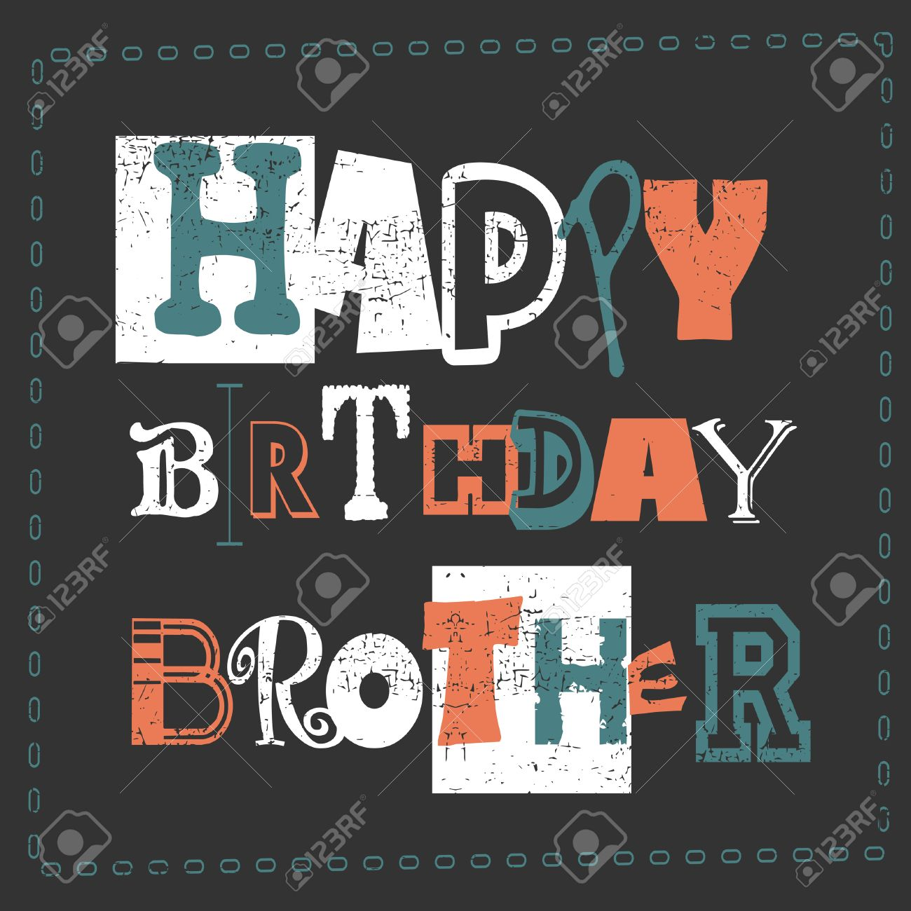 birthday card design for brother ; 57012646-happy-birthday-card-happy-birthday-brother-vector-illustration