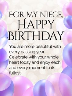 birthday card for niece greeting ; 21e275316e3a319882f63801140a914f