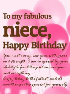 birthday card for niece greeting ; 3aa0fd8a8f1a8f0be8e1517cca40baa4