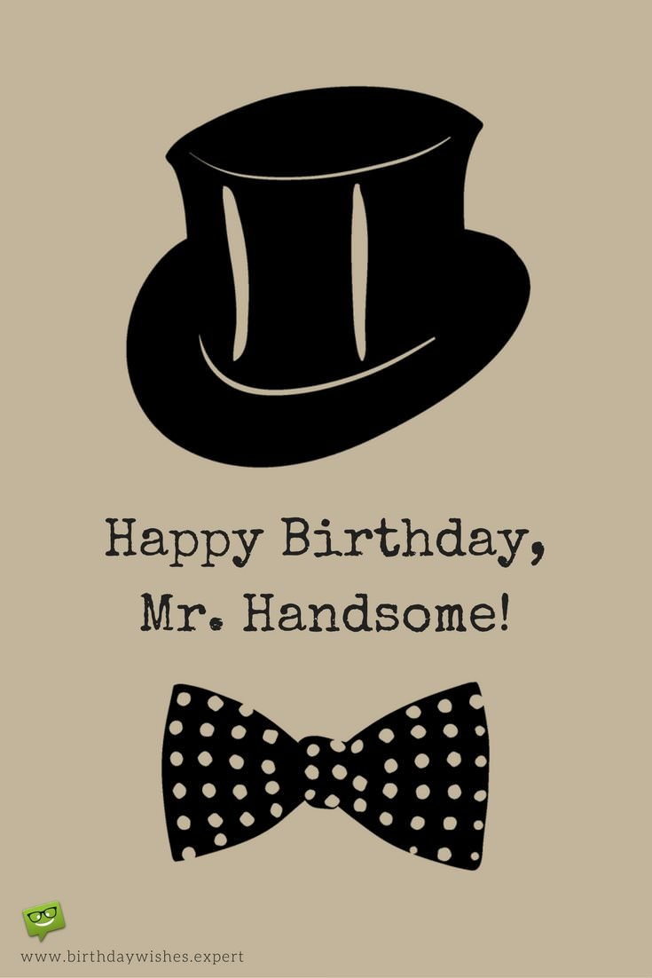 birthday card message for husband funny ; Birthday-wish-for-handsome-husband-with-vintage-hat-and-bow-tie
