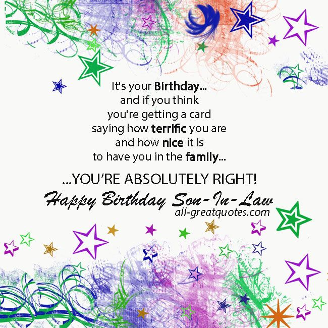 birthday card messages for son in law ; a6b35f0aa7da9b875271dbec709d371f