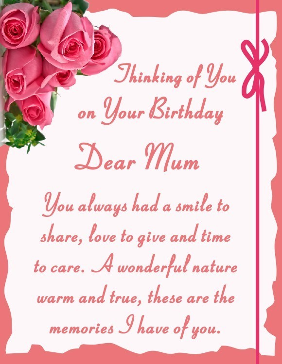 birthday card mom messages ; message-for-mom-birthday-card-memorial-stake-card-birthday-mum-6