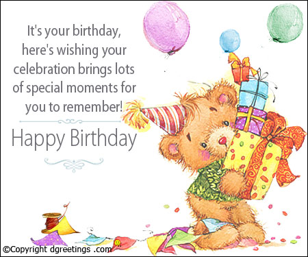birthday card sms messages ; birthday-brother