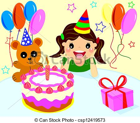 birthday clipart for her ; can-stock-photo_csp12419573
