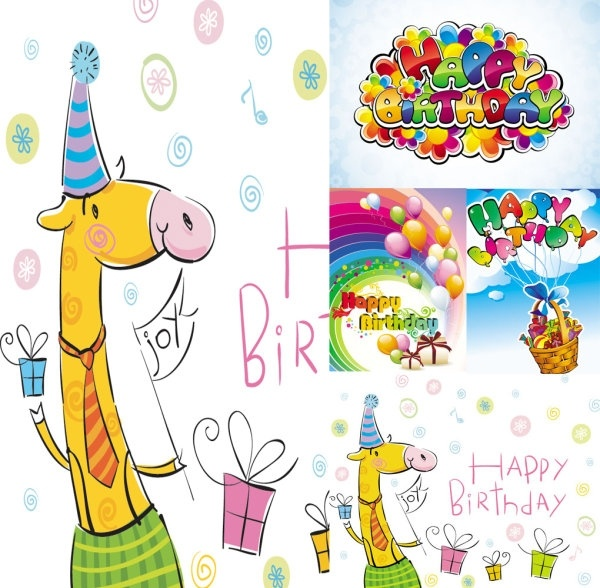 birthday clipart free download ; vector_cute_cartoon_happy_birthday_154015
