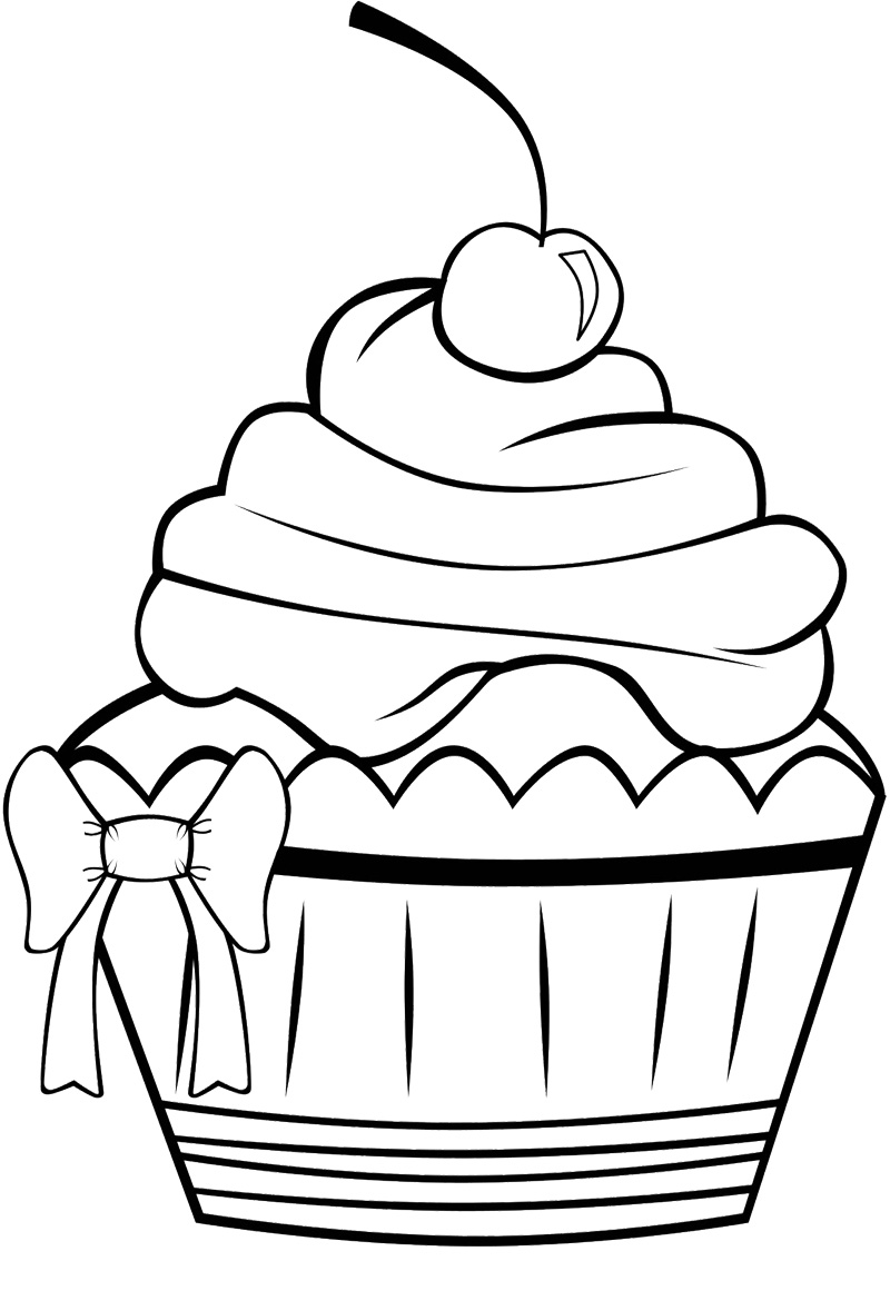 birthday cupcake coloring ; Great-Rjkwhq-On-Cupcake-Coloring-Pages