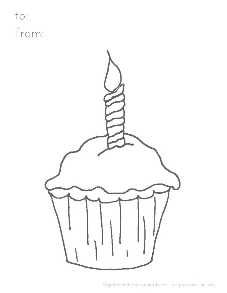 birthday cupcake coloring ; birthday-cupcake-coloring-page-791x1024