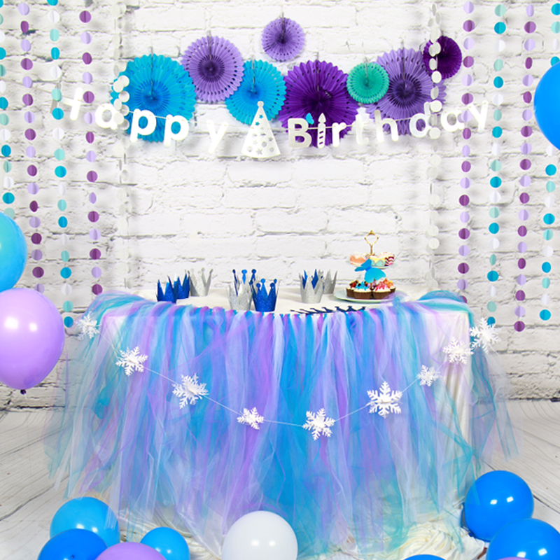 birthday decoration banner ; Birthday-Decor-Paper-Pompom-Flower-Folding-Fan-Party-Decoration-Happy-Birthday-Banner-Decoration-Party-Supplies