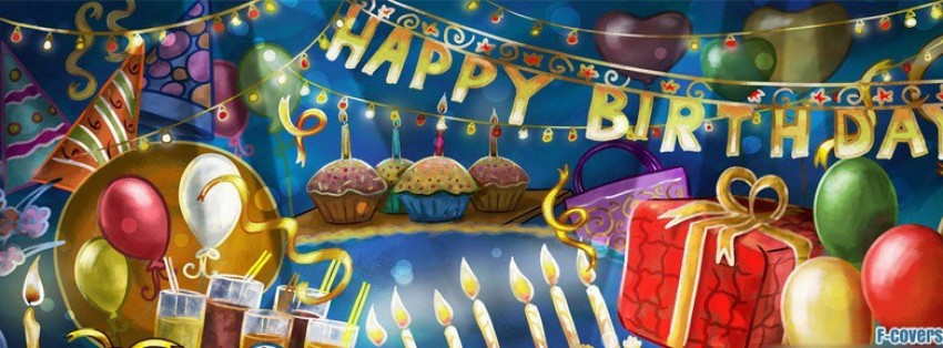 birthday decoration banner ; cartoon-birthday-party-facebook-cover-timeline-banner-for-fb
