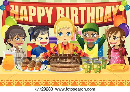 birthday drawings for kids ; kids-birthday-party-clipart__k7729283