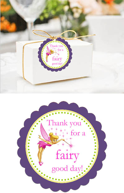 birthday favor tags wording ; Tinkerbell-Scallop-Favor-Tag-Details