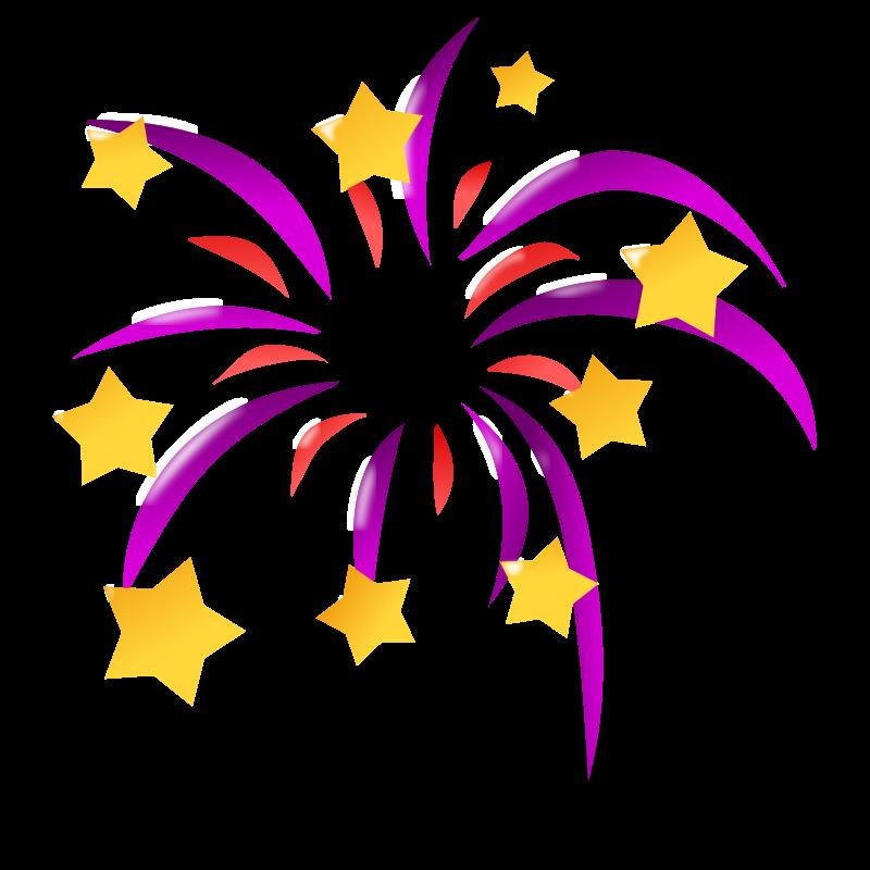 birthday fireworks clipart ; purple-fireworks-with-stars