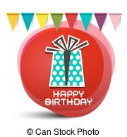 birthday gift box clipart ; happy-birthday-gift-box-with-flags-on-red-circle-abstract-background-vector-clipart_csp35929304