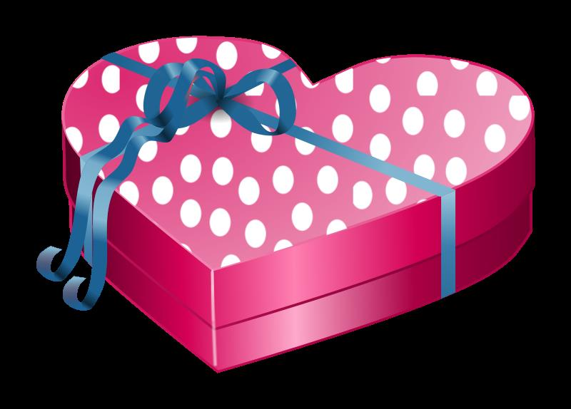 birthday gift box clipart ; heart-shaped-giftbox-pink