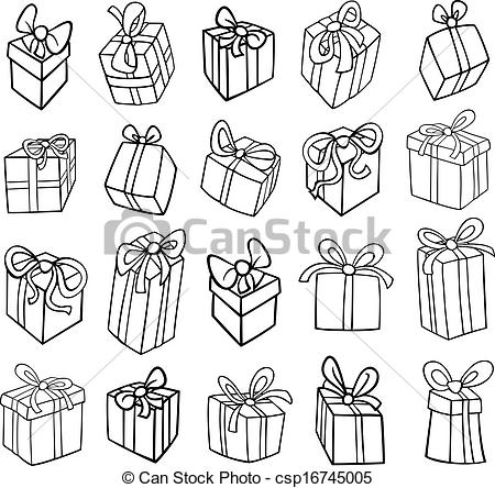 birthday gift drawing ideas ; 6379c25236488848b7b90cb6498d3571_christmas-or-birthday-gifts-coloring-page-black-and-white-birthday-gift-drawing_450-444