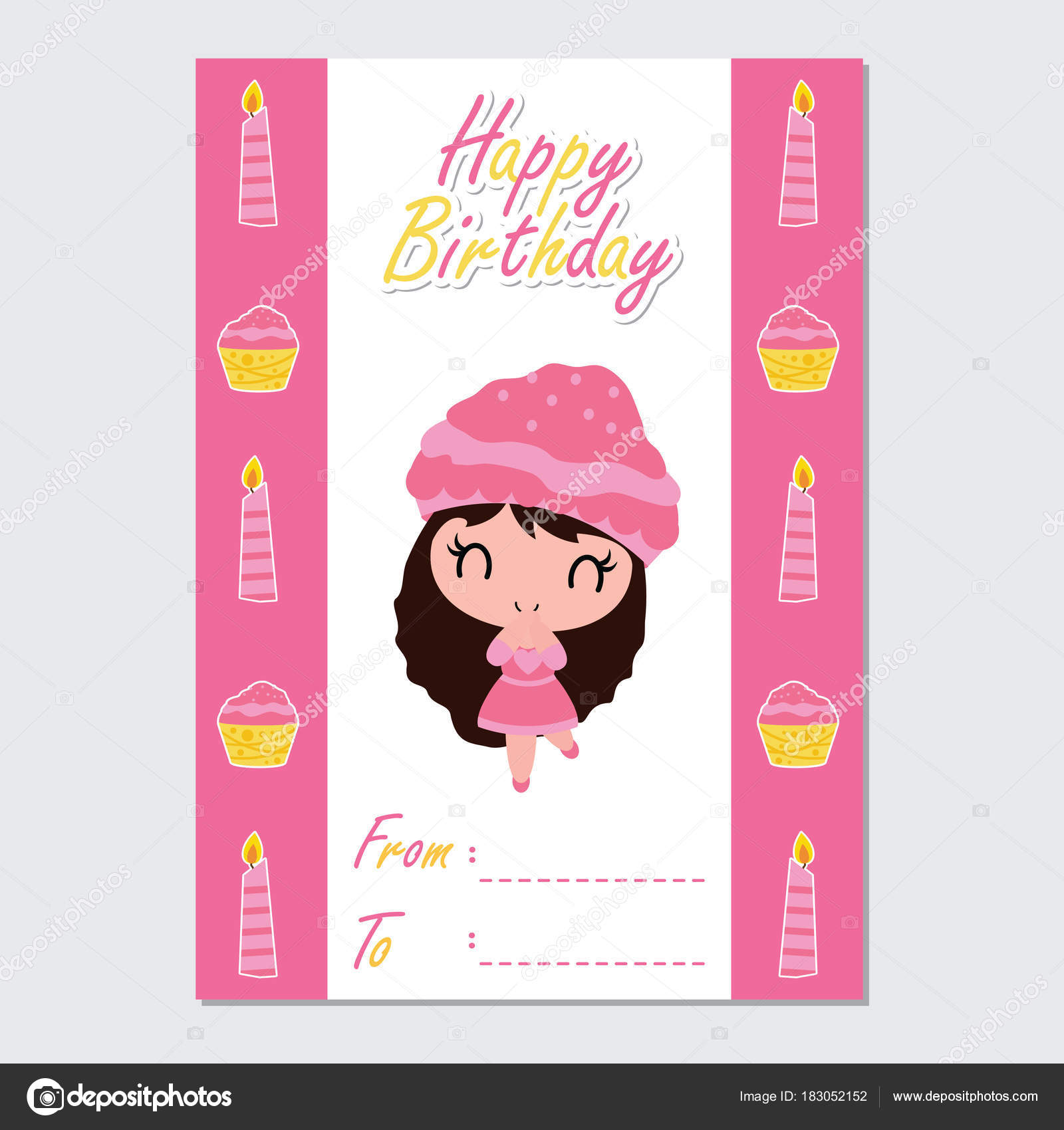 birthday girl border ; depositphotos_183052152-stock-illustration-cute-girl-candle-cupcake-border