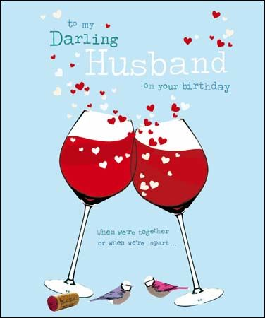 birthday greeting cards for husband online shopping ; buy_to_my_darling_husband_birthday_card_online_birthday_cards_for_husbands_hubby_with_red_wine_hearts_birds_grande