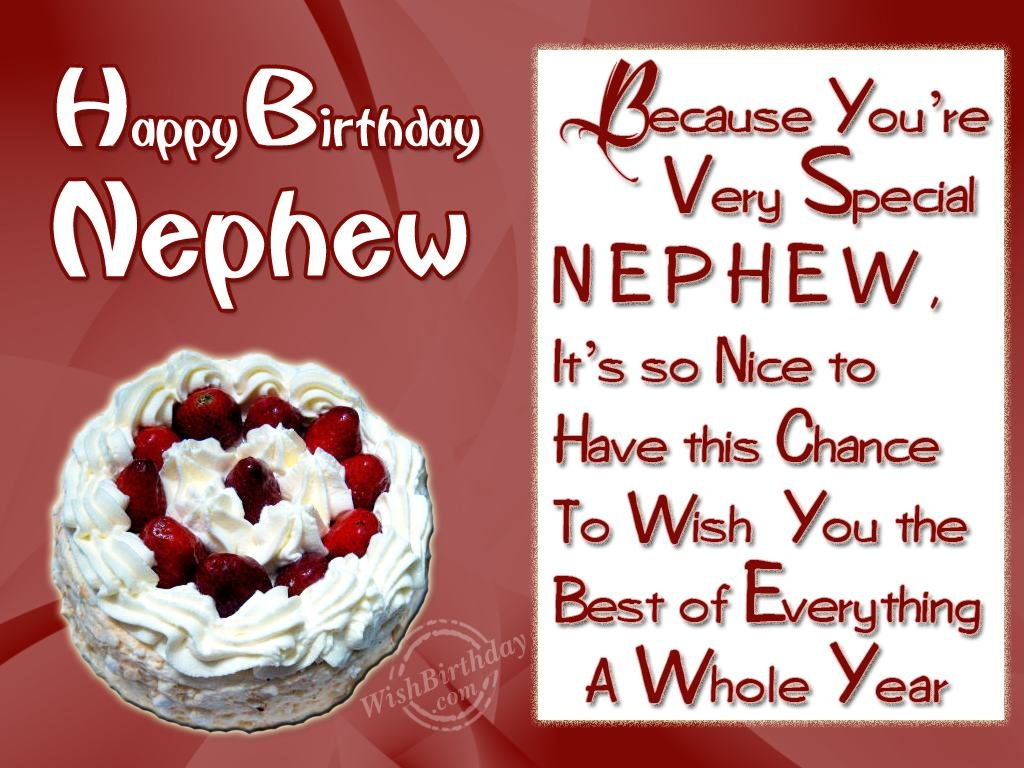 birthday greeting cards for nephew ; wishing-special-birthday-to-my-special-nephew-red-and-white-combination-colors-idea-decorate-style-happy-birthday-cards-for-nephew