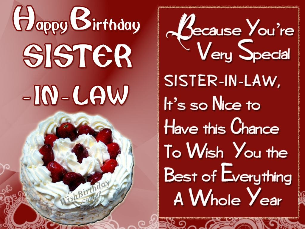 birthday greeting cards for sister in law ; 1081