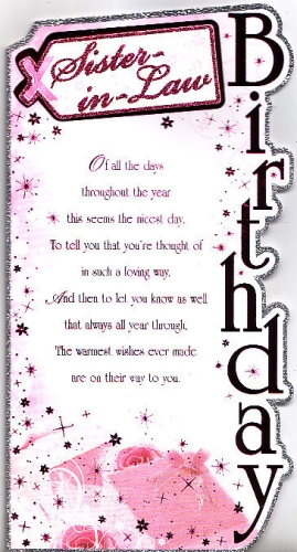 birthday greeting cards for sister in law ; large_284_sister_in_law_Birthday