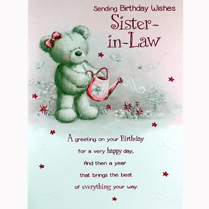 birthday greeting cards for sister in law ; s-l300