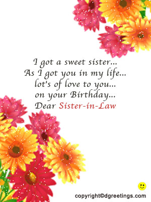 birthday greeting cards for sister in law ; sister-in-law-birthday