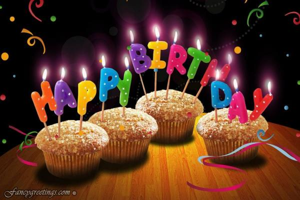 birthday greeting e cards ; send-free-greeting-cards-rectangle-landscape-brown-black-muffin-and-happy-birthday-candle-picture-send-free-birthday-greetings-conveniently-with-ecards-wonderful