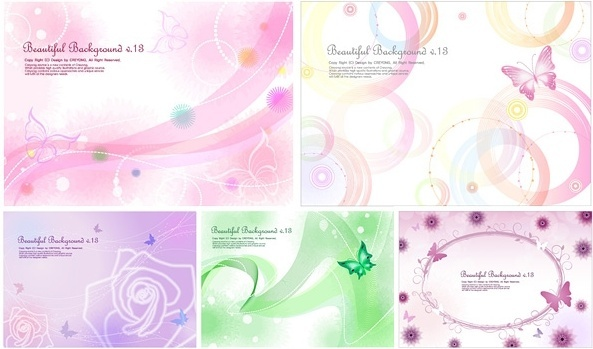 birthday invitation background designs free ; 5_lines_of_the_butterfly_and_the_background_vector_159645