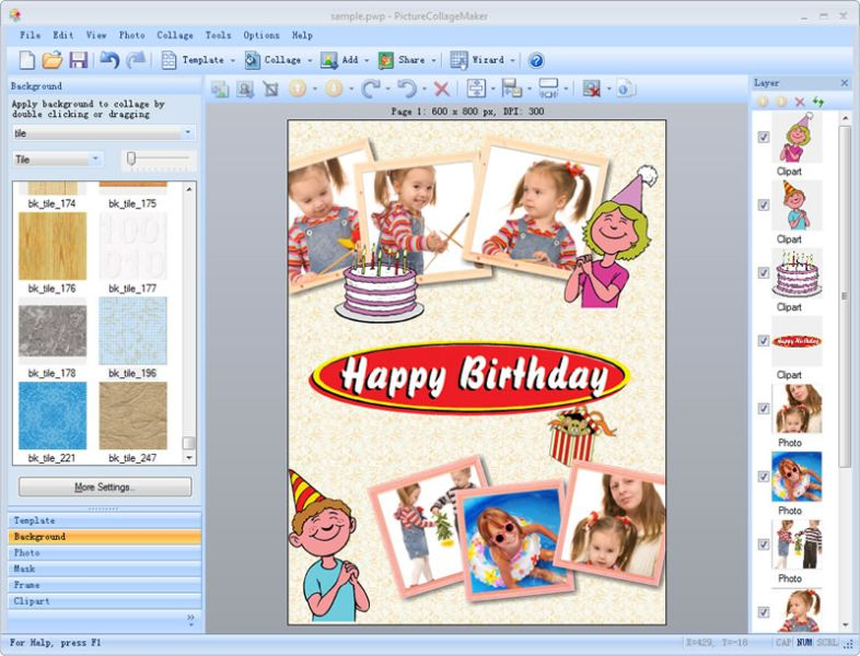 birthday invitation card editor online free ; picture_collage_maker_multimedia-48385