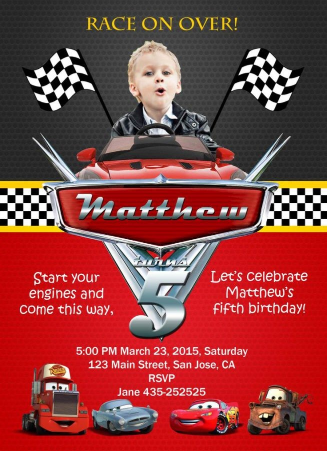 birthday invitation card template cars ; Chic-Disney-Cars-Birthday-Invitations-Which-You-Need-To-Make-Birthday-Party-Invitations