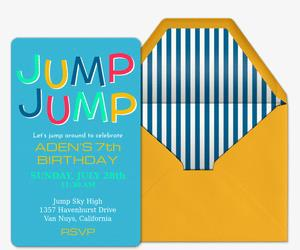 birthday invitation design online free ; jump-jump_birthday_forkids