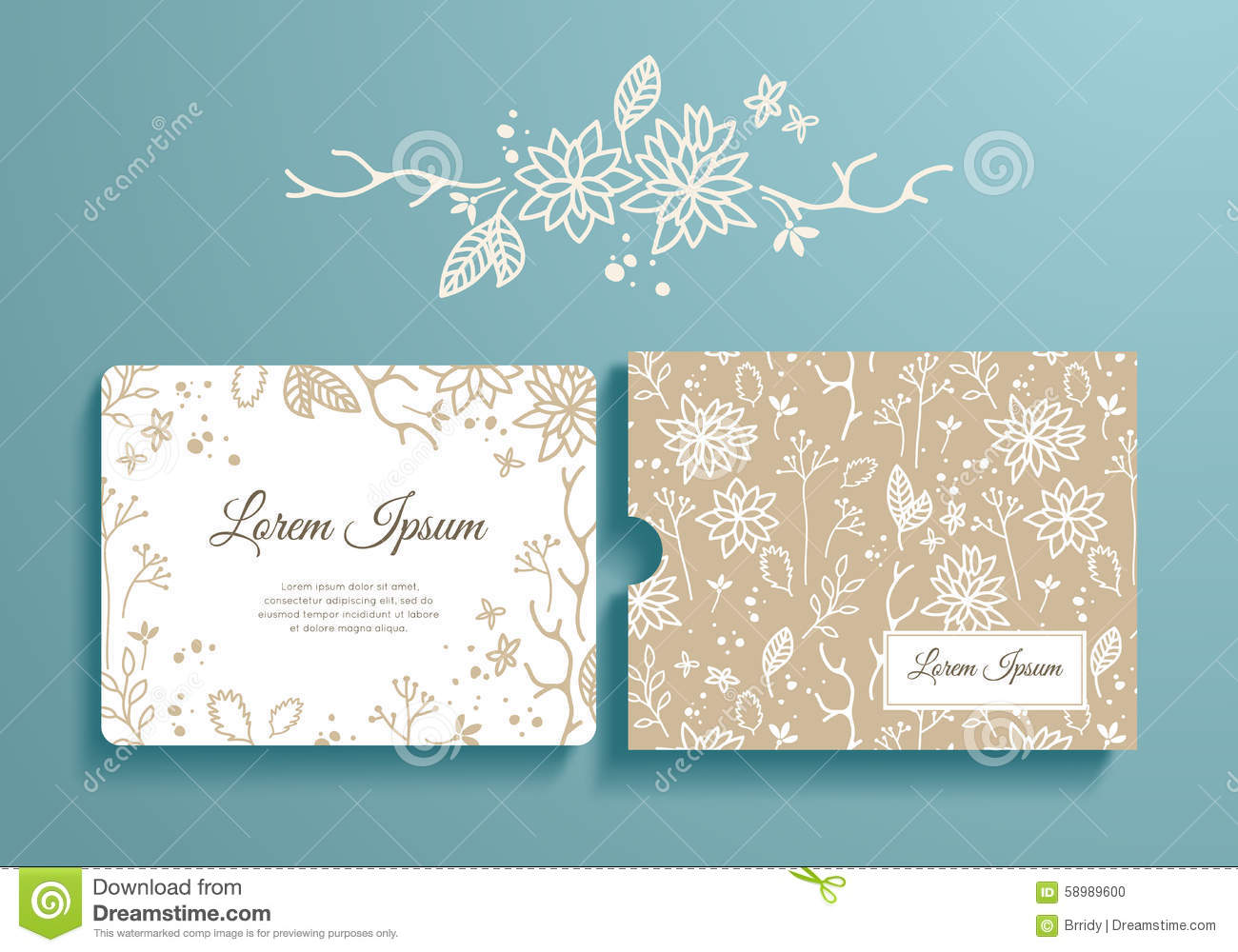 birthday invitation envelope designs ; floral-set-romantic-invitation-envelope-template-card-wedding-marriage-bridal-birthday-valentine-s-day-58989600