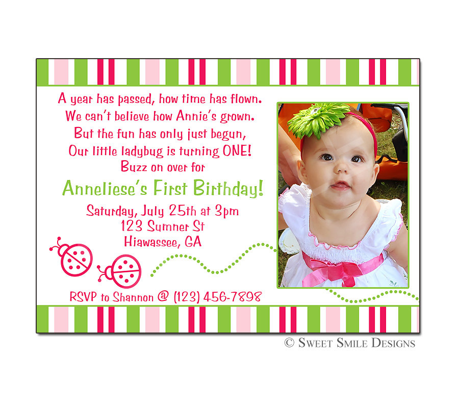 Birthday Invitation Message For 1 Year Old Fourth Wording