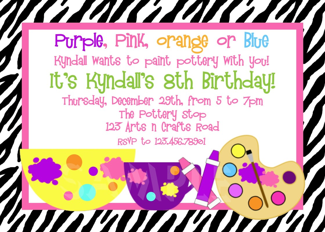 Birthday Invitation Message For 6 Year Old 1st Party