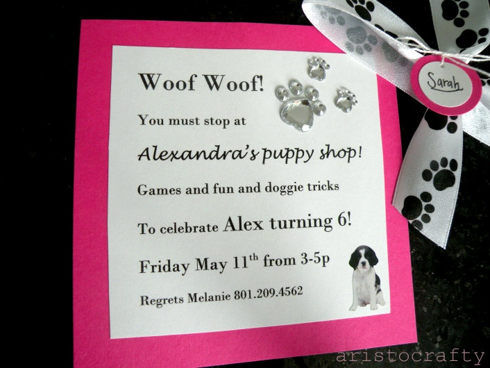 birthday invitation message for 6 year old ; 9b249658cbe75fd9eff63db390974ea4--puppy-birthday-parties-puppy-party
