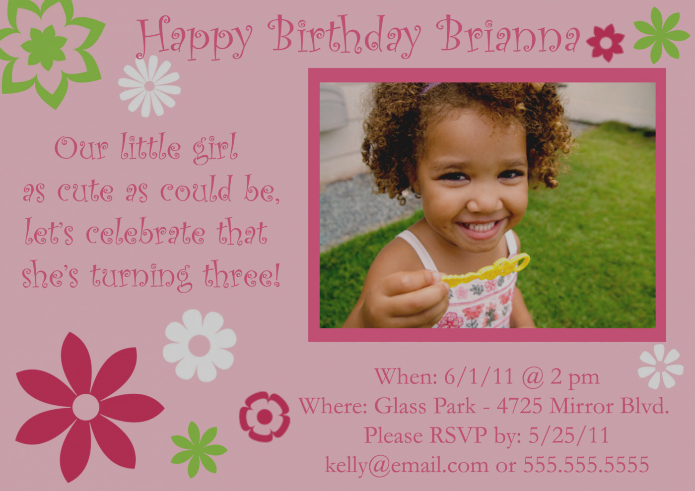 Birthday Invitation Message For 6 Year Old Collection Rd