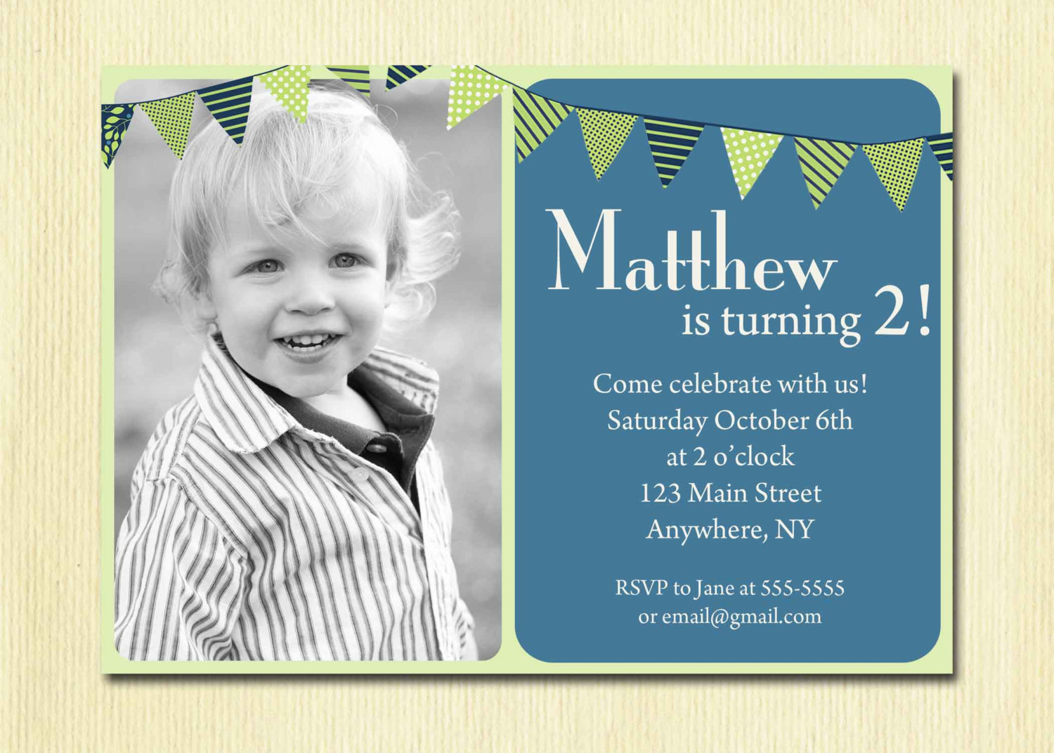 Birthday Invitation Wording For 6 Year Old Boy Il Fullxfull