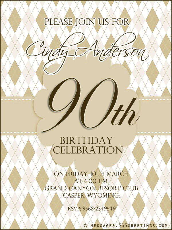 birthday invitation wording for mother ; 90th-birthday-party-invitation-wording