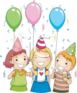 birthday kids clipart ; Children_with_Balloons_and_Party_Hats_At_a_Birthday_Party_Royalty_Free_Clipart_Picture_110320-183169-548053
