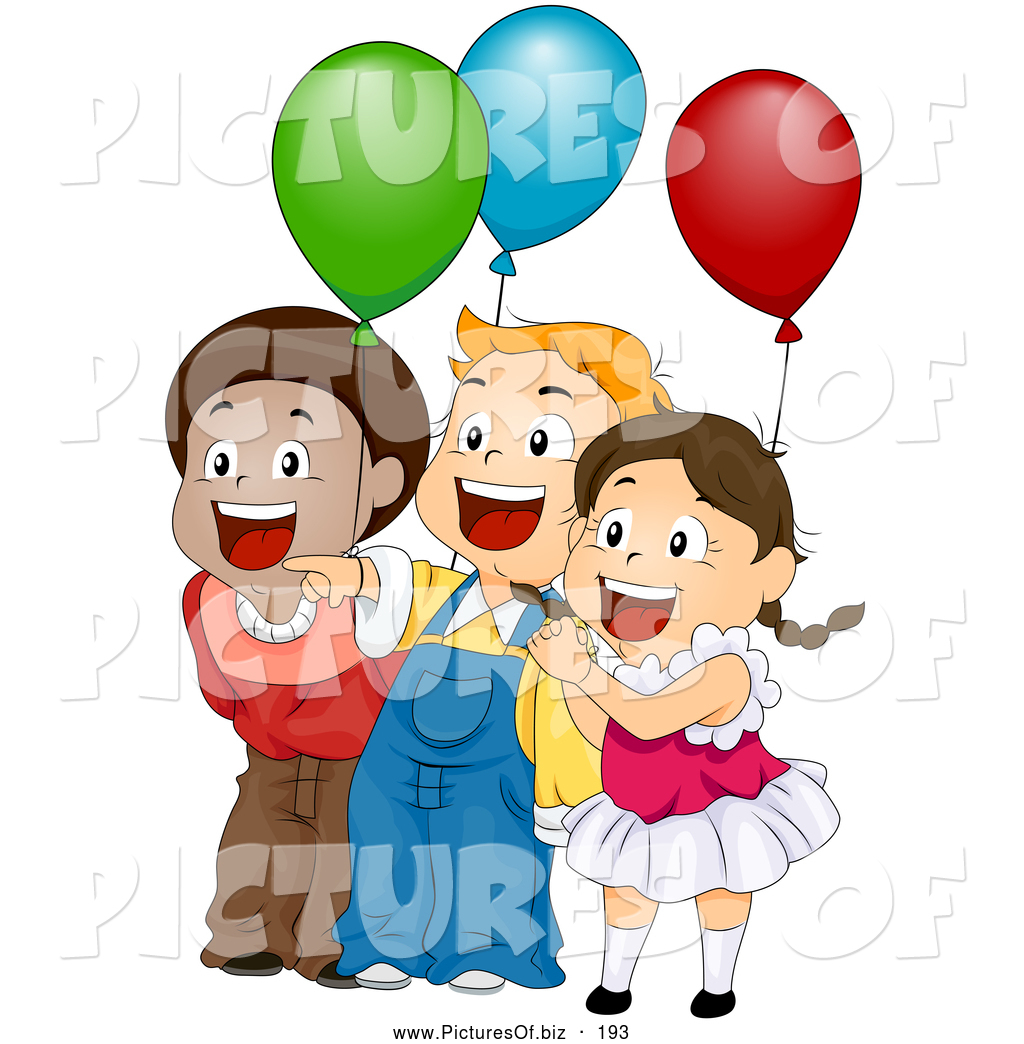 birthday kids clipart ; vector-clipart-of-three-cute-happy-children-laughing-and-holding-balloons-at-a-birthday-party-by-bnp-design-studio-193