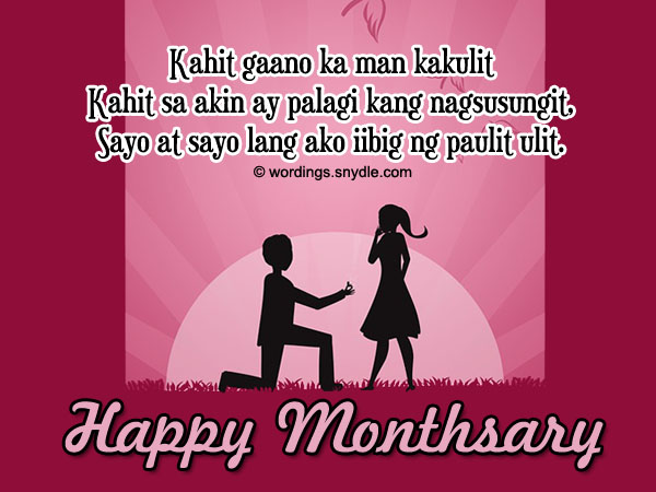 birthday love message tagalog ; monthsary-messages-tagalog