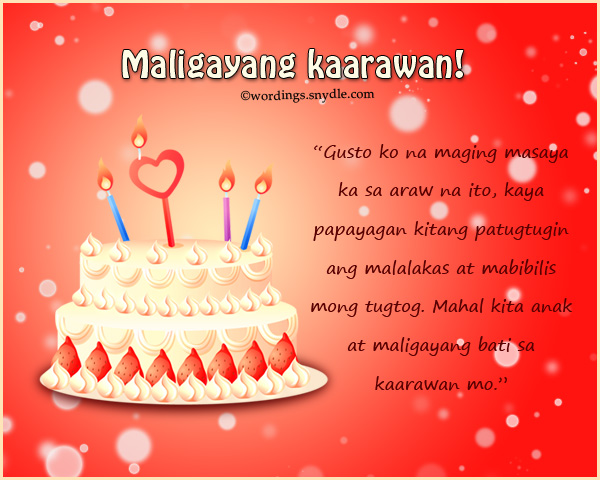 birthday message for mother from daughter tagalog ; tagalog-birthday-greetings-1
