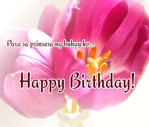 birthday message for mother from daughter tagalog ; tagalog-happy-birthday