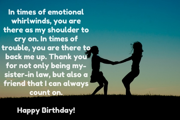birthday message quotes for sister ; Best-birthday-wishes-for-sister-in-law